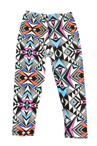 Bright Aztec Leggings