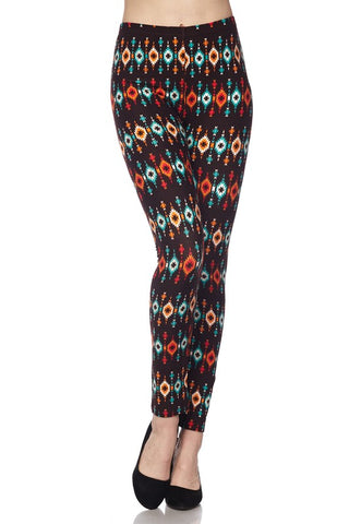 Bright Tribal Leggings