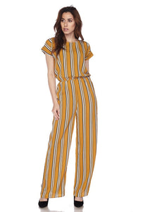 Stripe Sleeved Jumpsuit