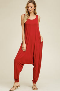 Red Harem Jumpsuit