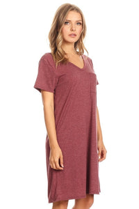 Cross back T-Shirt Dress