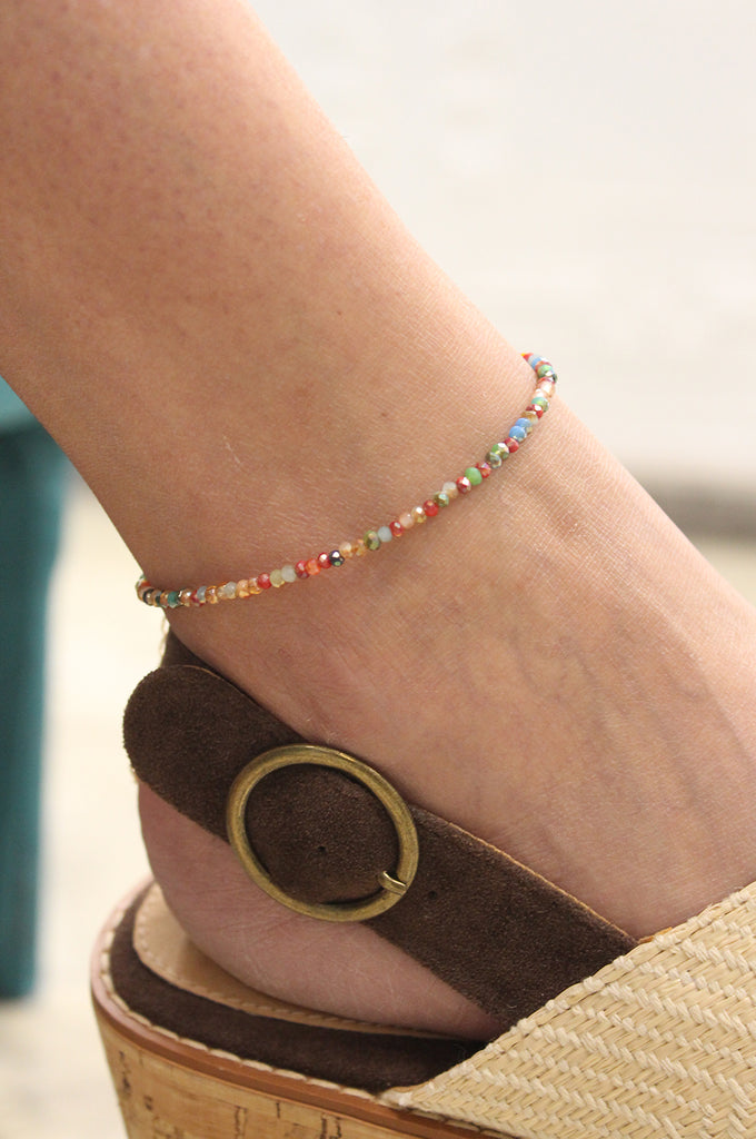 Claire Multi-Color Anklet
