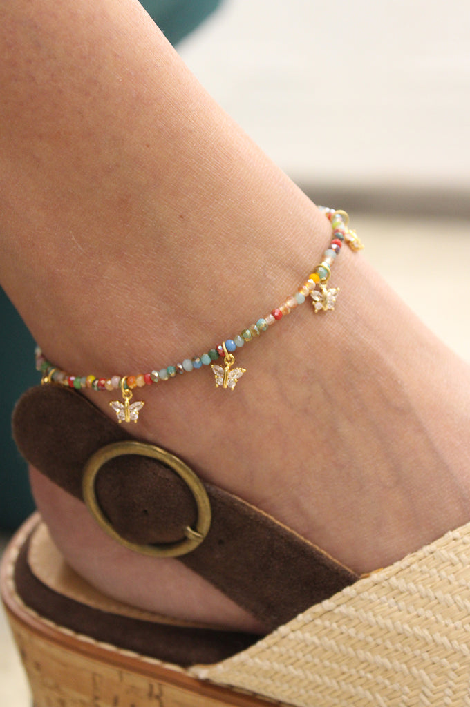 Claire Butterfly Anklet