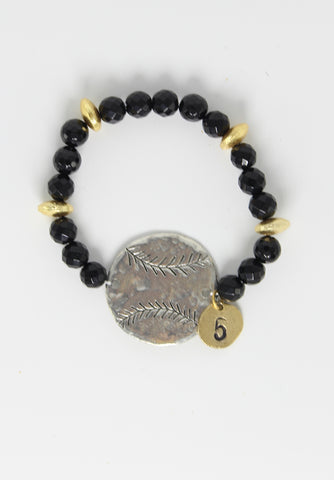 Personalized Baseball Bracelet