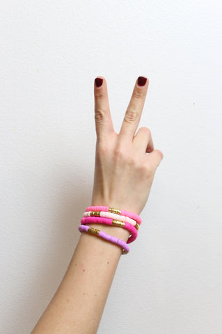 The Pink Lady CEO Bracelet Stack