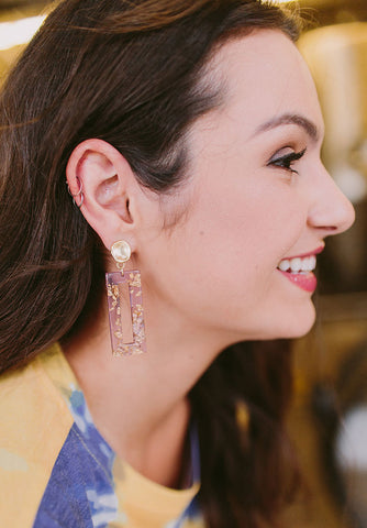 Selena Earrings with Gold Flake