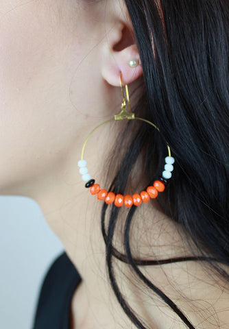 School Spirit Beaded Earrings
