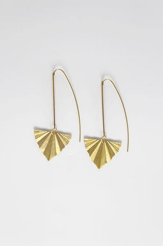Terri V Shape Triangle Earrings