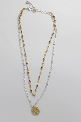 Two Layer Mary Necklace
