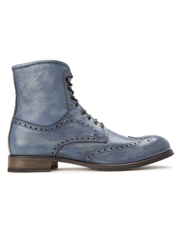 Union Brogue Boot - Slate Blue