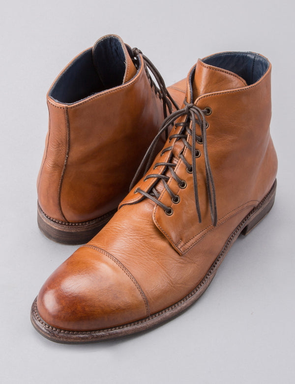 Union Cap Toe Boot - Saddle