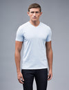Chambray Blue V-neck t Shirt