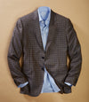 Navy and Saddle Plaid Jacket