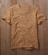Gold V-neck t Shirt