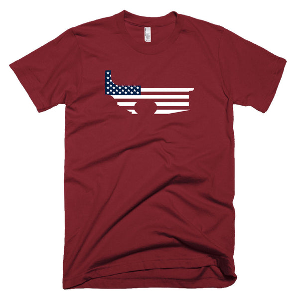 Patriot Lower - Cranberry - Black Rifle Garb - AR15 t-shirt