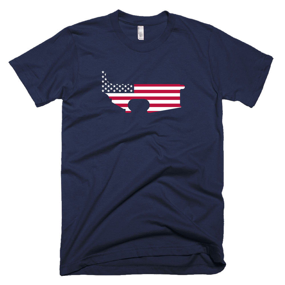 Patriot Lower - Navy - Black Rifle Garb - AR15 t-shirt