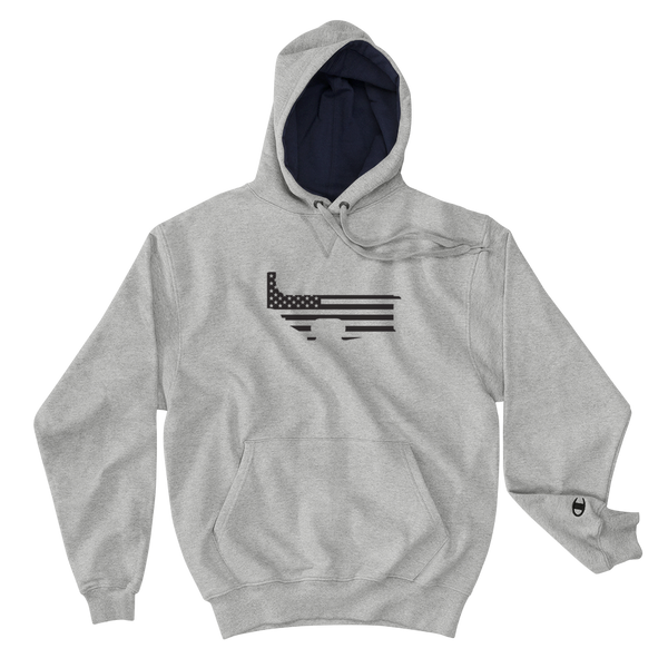 Hoodie - Patriot Lower - Gray