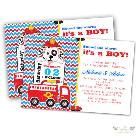 Baby shower page 3 angeliquecreations fire truck puppy baby shower invitations blank digital thank you card to match filmwisefo Image collections