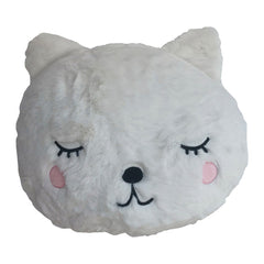 KIDS CUTE BEAR CUSHION - WHITE 33 X 32CM