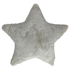 KIDS FUR STAR CUSHION - WHITE 44 X 45CM