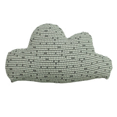 KIDS PRINTED CLOUD CUSHION - GREY 23 X 40CM