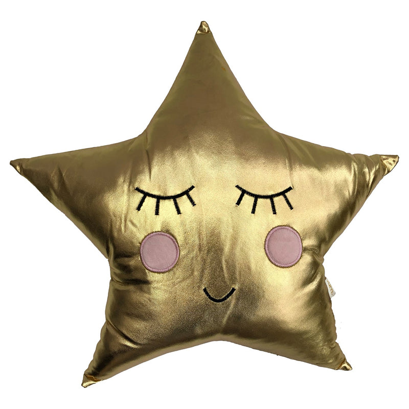 KIDS GOLD STAR CUSHION - GOLD 40 X 40CM
