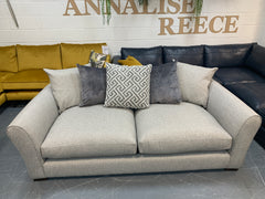 Cruise 3 seater reversible cushion back sofa in natural weave fabric