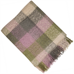 BALMORAL KNIT THROW 150 X 180CM PURPLE GREEN
