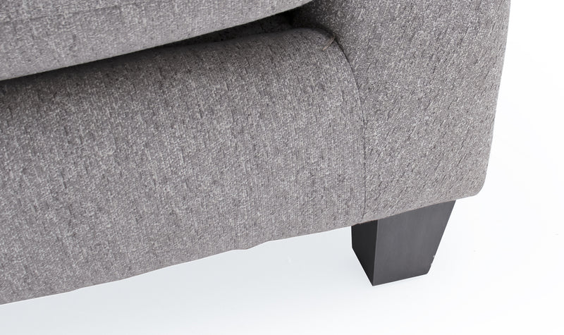 Imogen 2 seater cushion back sofa in grey fabric