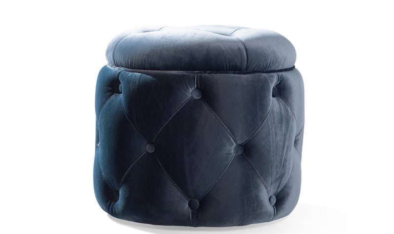 Jools blue cushion back curved swivel chair in velvet fabric