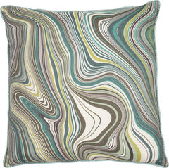 MARBLE CUSHION - GREEN 45 X 45CM