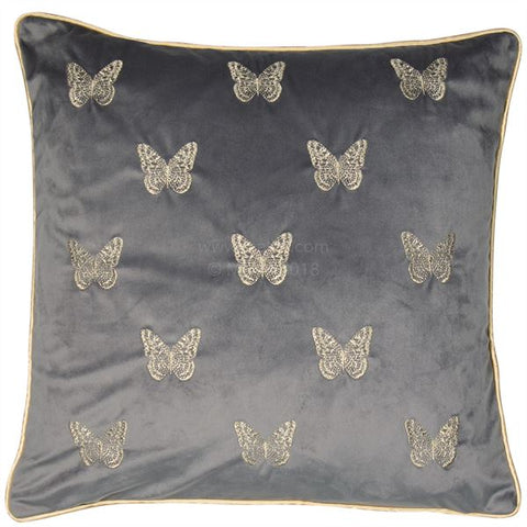 MARIPOSA CUSHION - GREY 45 X 45CM