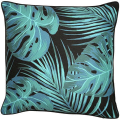 TROPICAL CUSHION - BLACK 45 X 45CM