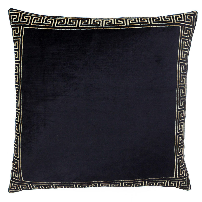 APOLLO LARGE CUSHION - BLACK 50 X 50CM