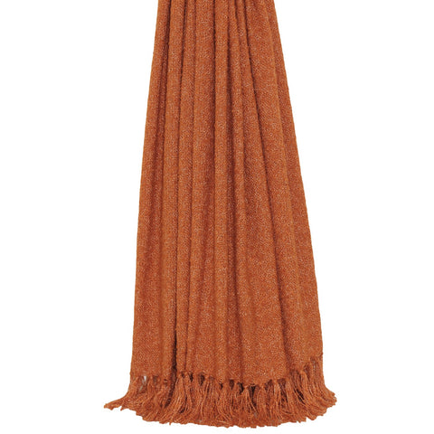 E - THROW - AURIELLA KNIT 127 X 180CM BURNT ORANGE