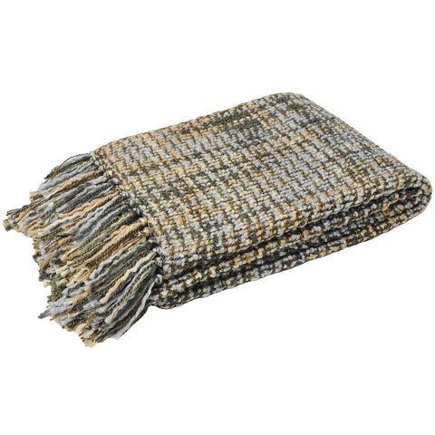 E - THROW - BAOLI KNIT 140 X 180CM DUCK EGG