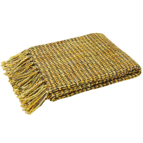 E - THROW - BAOLI KNIT 140 X 180CM HONEY