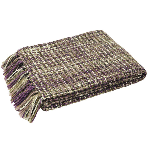 E - THROW - BAOLI KNIT 140 X 180CM PLUM