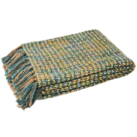 E - THROW - BAOLI KNIT 140 X 180CM TEAL