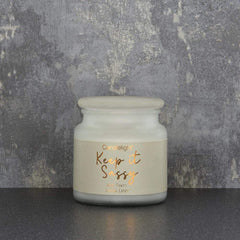 Candlelight Keep it Sassy Large Wax Filled Pot Candle White Flowers Scent 380g