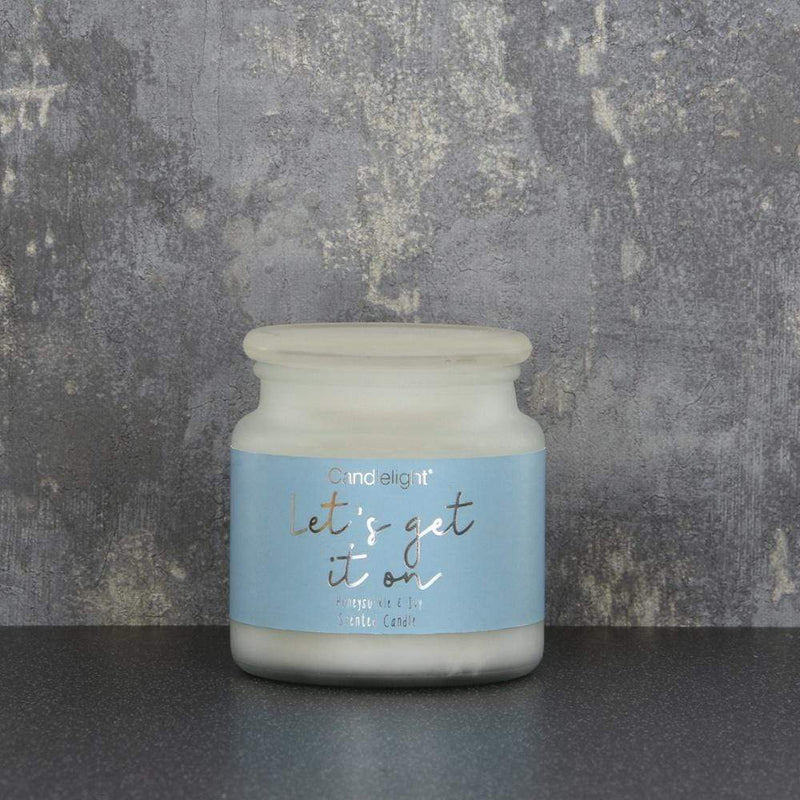 Candlelight Let's Get It On Large Wax Filled Pot Candle Honeysucke and Ivy Scent 380g