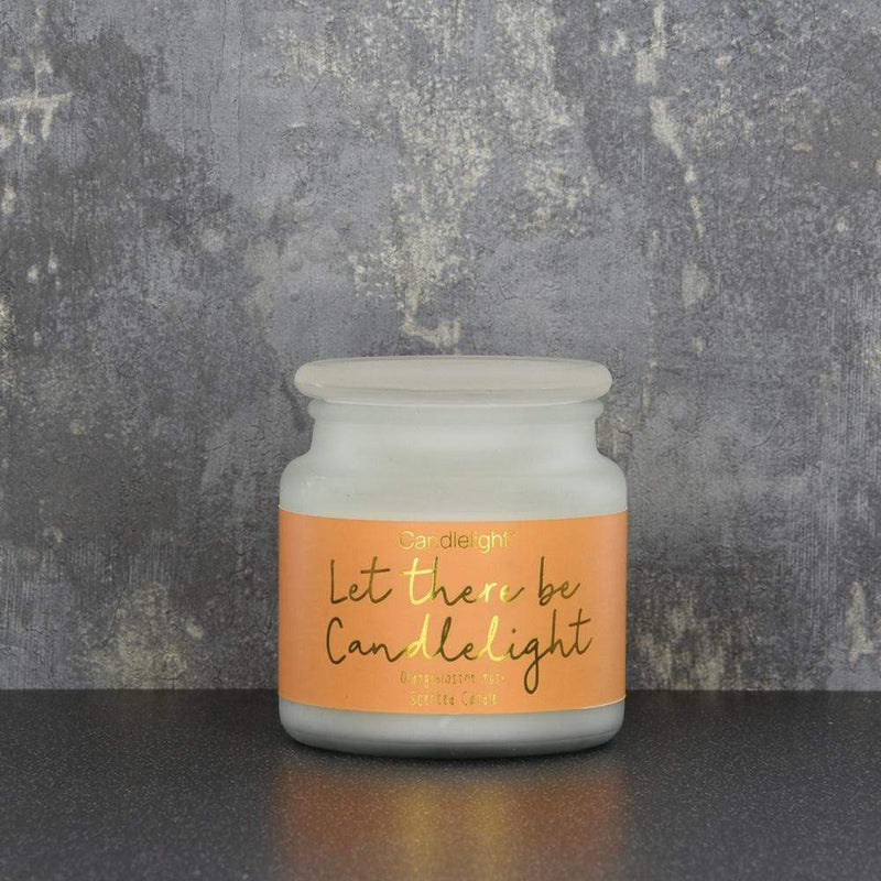 Candlelight Let There Be Candlelight Large Wax Filled Pot Candle Orangeblossom Musk Scent 380g
