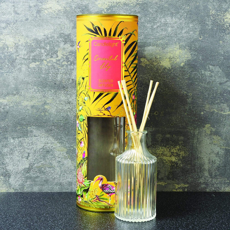 Candlelight Chinoiserie Reed Diffuser Oriental Lily Scent 150ml