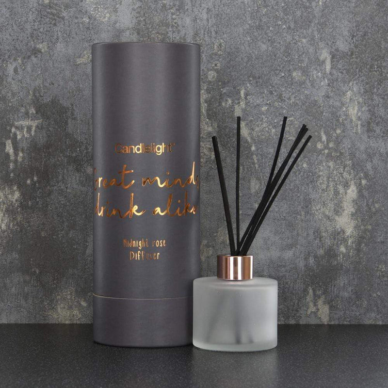 Candlelight Great Minds Drink Alike Reed Diffuser in Gift Box Midnight Rose Scent 150ml