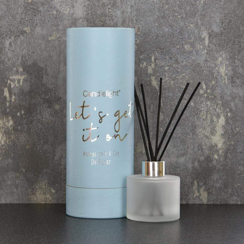 Candlelight Let's Get It On Reed Diffuser in Gift Box Honeysuckle and Ivy Scent 150ml