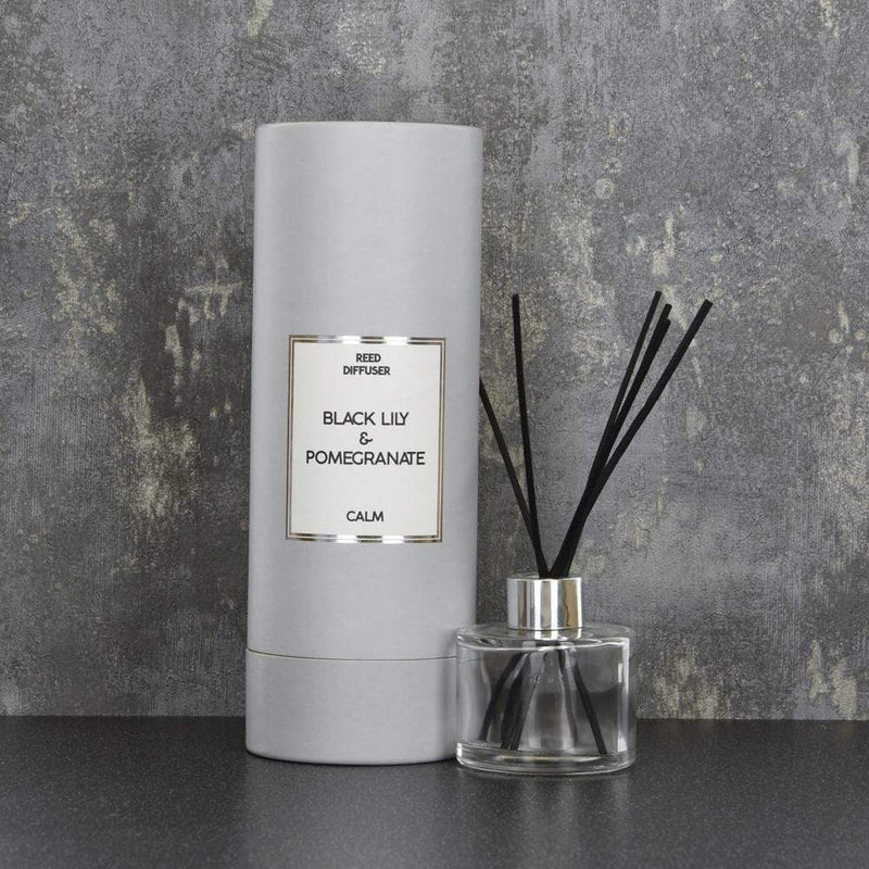Simple Large Reed Diffuser in Gift Box Black Lily and Pomegranate Scent 150ml