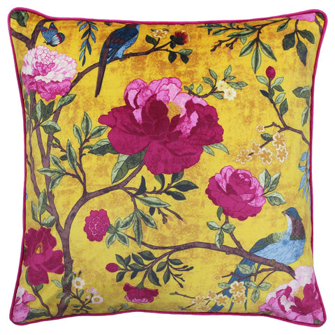 CHINOISERIE CUSHION - GOLD 50 X 50CM