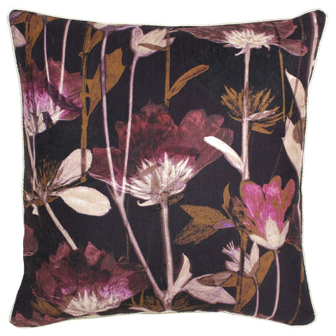 DIGITAL LILLY CUSHION - DAMSON 50 X 50CM