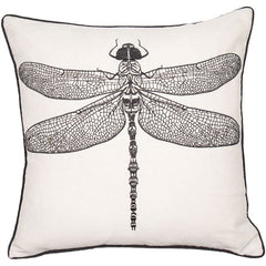 DRAGONFLY CUSHION - NATURAL 45 X 45CM