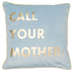 MOTHER CUSHION - BLUE 45 X 45CM